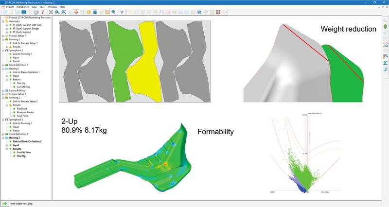 Con FormingSuite, i potenziali problemi di fabbricabilità possono essere identificati durante la progettazione del componente.