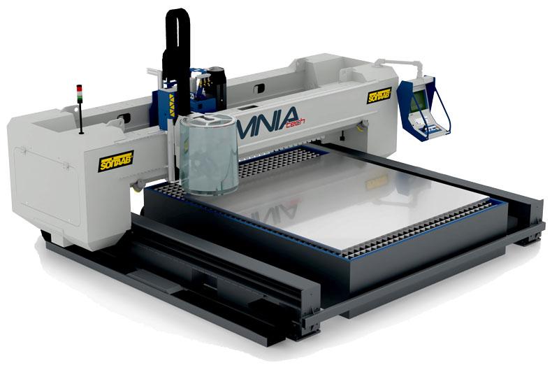 Omniatech è una macchina multifunzionale di lavorazione meccanica e taglio.
