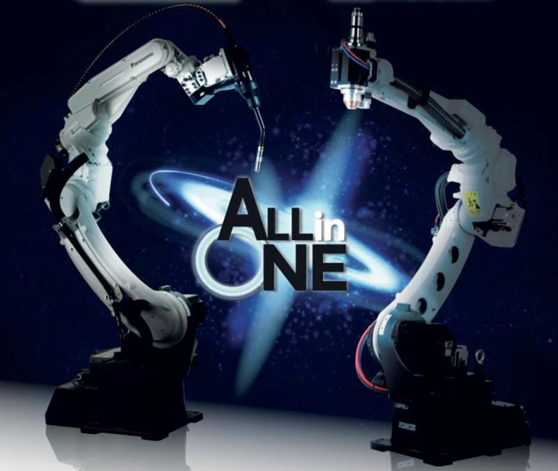 Panasonic ha creato una vera e propria saldatrice robotizzata, secondo il concetto All In One: Tawers per la saldatura ad arco e LAPRISS per quella laser.