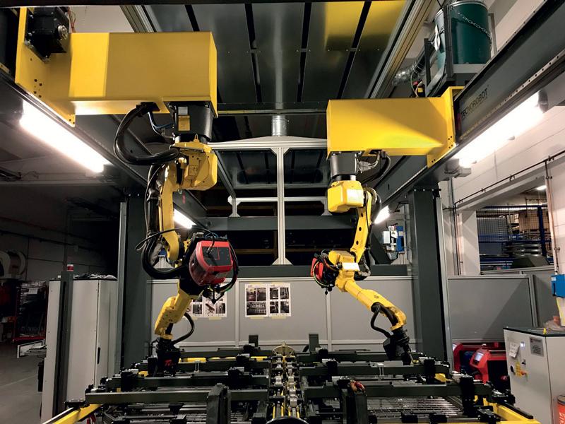 Il robot, una volta trovato il settaggio corretto, garantisce cicli infiniti con la stessa qualità e tempistica.