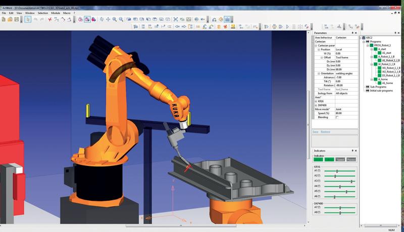almaCAM Weld massimizza i tempi produttivi dei robot e diminuisce i costi di programmazione.