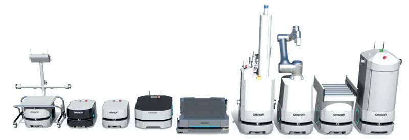 OMRON può fornire una gamma veramente ampia di robot mobili autonomi.