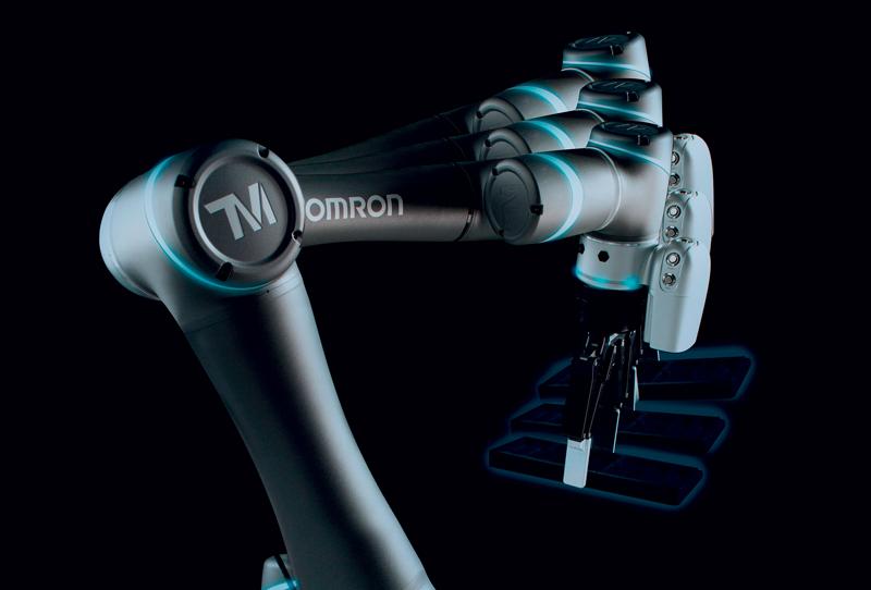 La soluzione MoMa di OMRON prevede di montare una o più braccia collaborative sopra un AMR.
