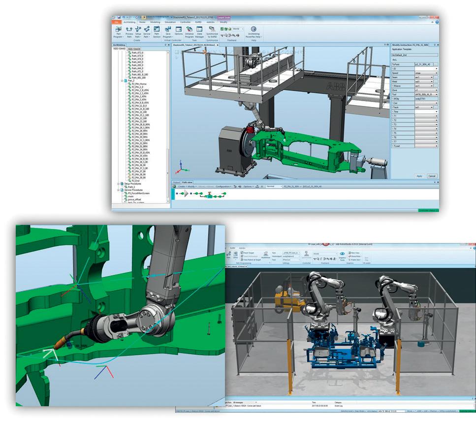 Strumenti di simulazione e programmazione offline facilitano la gestione della cella di saldatura da parte dell'operatore.