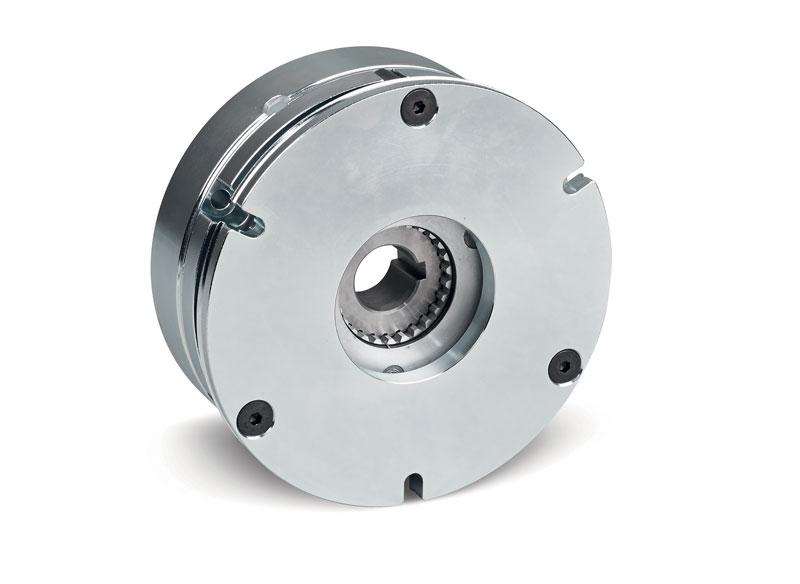 La gamma di freni motore PK della Warner Electric combina un materiale ad alto coefficiente di attrito e una potente bobina.