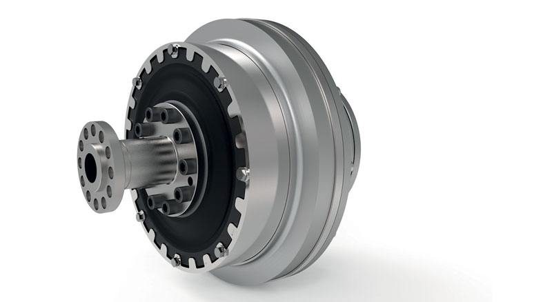 Stromag's 2 in 1 clutch/coupling solution offers a compact combination of an electromagnetic/ hydraulic clutch combined with a flexible/dampening coupling.