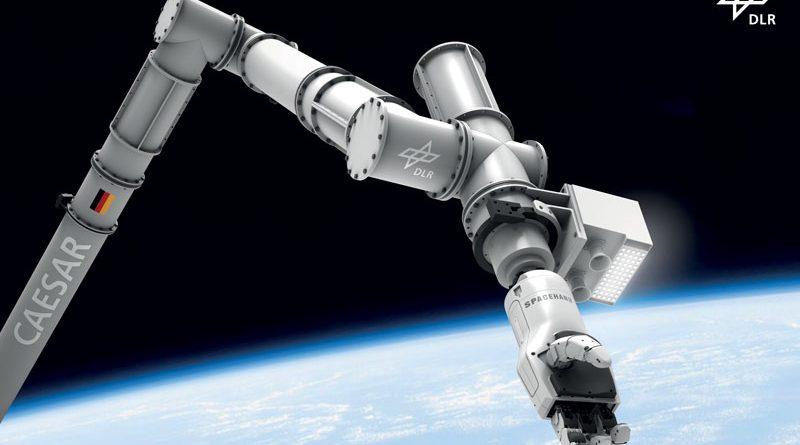 Il braccio robotizzato CAESAR è stato sviluppato da DLR e viene utilizzato all'esterno della ISS per svolgere attività di servizio per esperimenti scientifici e tecnici.