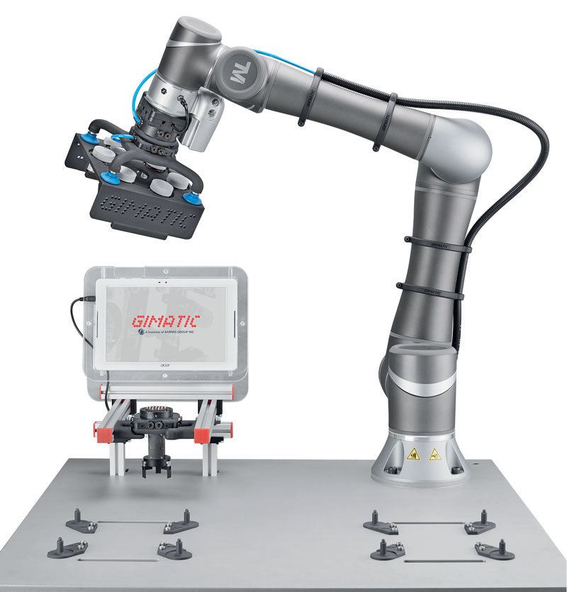 Application with robot, electrical tool change and 3D-printed gripper developed by Gimatic and MICROingranaggi.