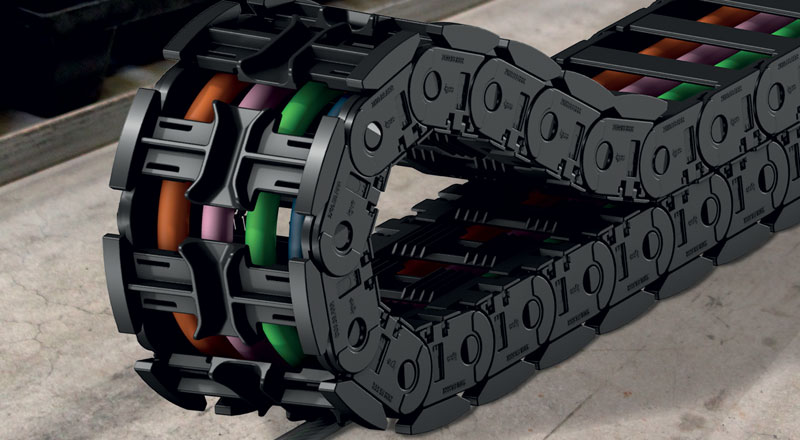 autoglide 5: il sistema portacavi per corse lunghe di igus è sicuro, veloce da montare ed economico.