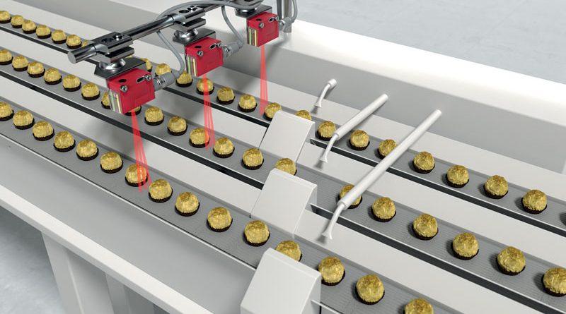 Il sensore DRT25C rileva in modo affidabile oggetti piccoli e piatti, nonché oggetti di diverso colore e superfici lucide o trasparenti.