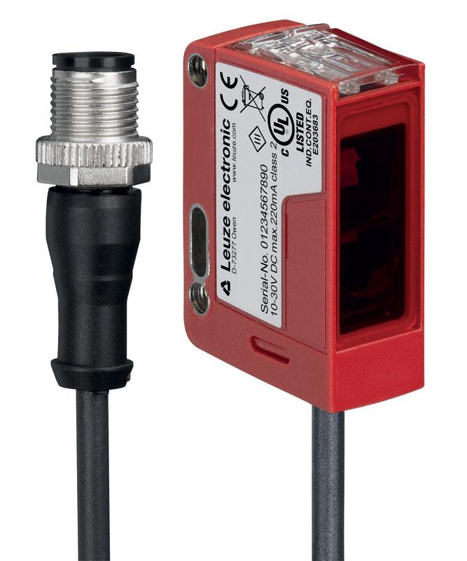 Il sensore a tasteggio di primo piano con riferimento dinamico dello sfondo DRT25C lanciato da Leuze.