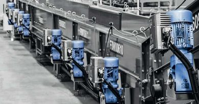 La soluzione di intralogistica LogiDrive di NORD è stata progettata per progetti di intralogistica in aeroporti, centri smistamento pacchi, magazzini con scaffali elevati o altri impianti logistici di stoccaggio.