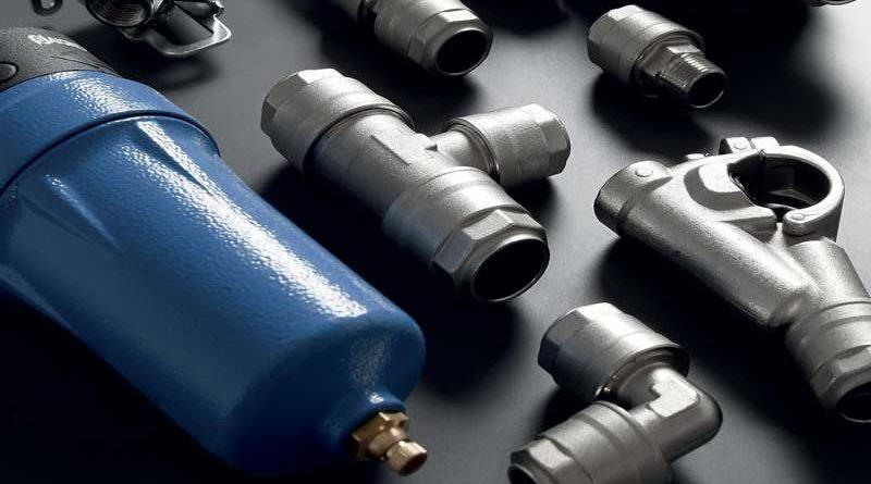 La linea di raccordi per tubi INFINITY di Aignep, dedicata a installazioni per aria compressa, gas inerti e vuoto.
