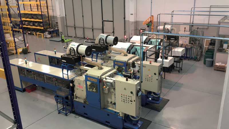 Production machinery consists of state-of-the-art automated and robotic machinery.