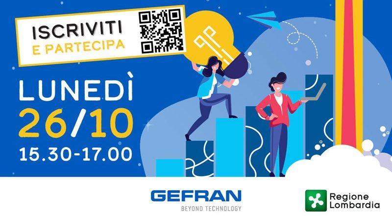 """Gefran ha organizzato il webinar """"Innovazione sotto pressione"""" per il 26 ottobre."""