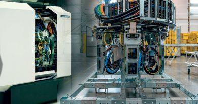 Un sistema portacavi unico fornisce energia a sei mandrini