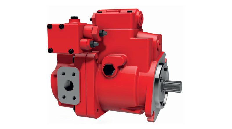 La rinnovata serie di pompe K3VL a pistoni assiali a cilindrata variabile per circuito aperto, di produzione Kawasaki, distribuita da HANSA-TMP.