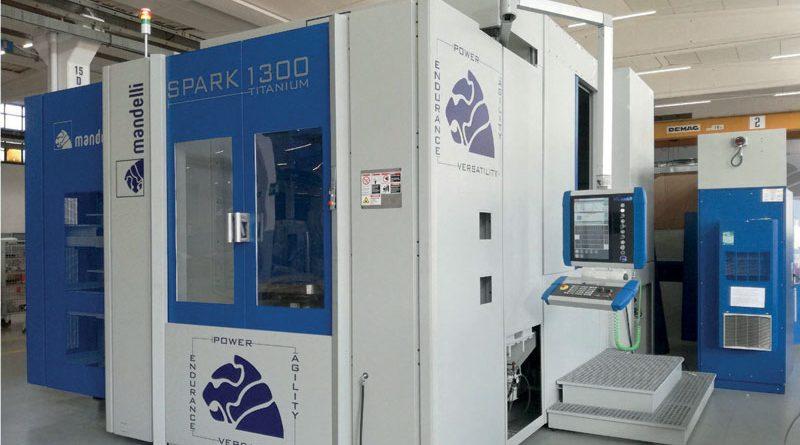 Il centro di lavoro Spark 1300 Titanium di Mandelli Sistemi.