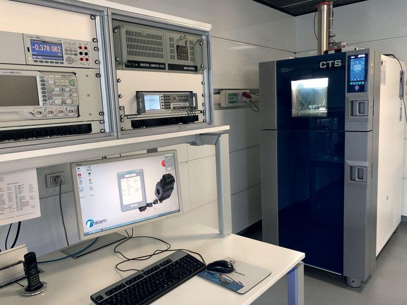 La camera climatica del laboratorio prove ATAM.