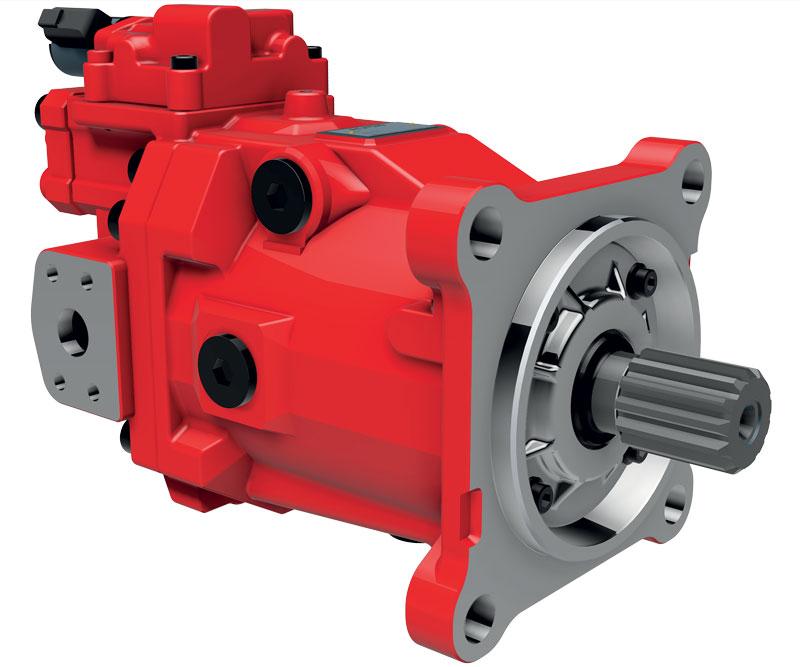 Motore a pistoni assiali a cilindrata variabile M7V Kawasaki.