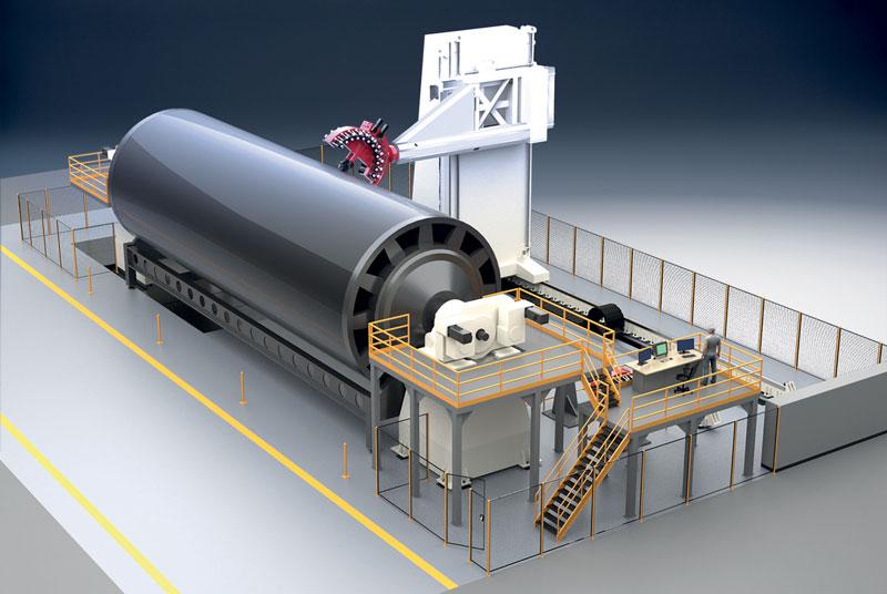 Il modulo Ingersoll per la stesura di carbonio Hawk è pensato e collaudato per la posa ad alta produttivita e affidabilità di fibra su superfici a media curvatura.