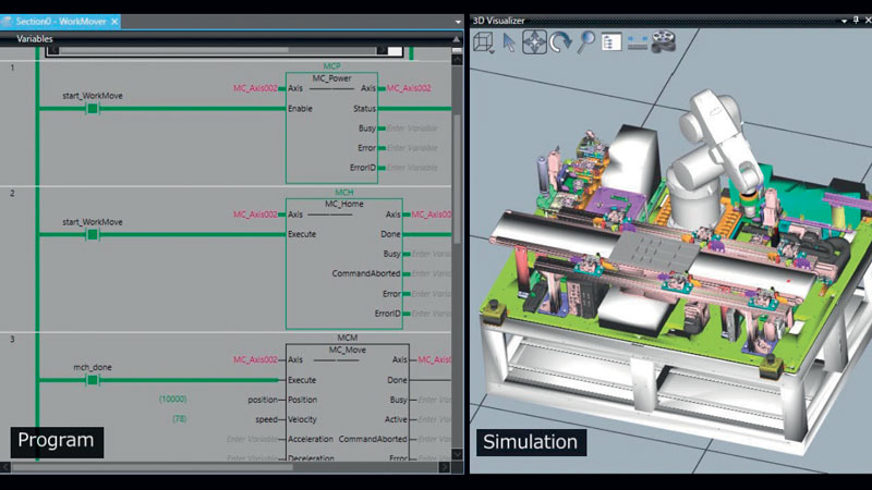 The IDE facilitates design through advance verification. It uses simulations that meet the need for rapid changes in production sites.