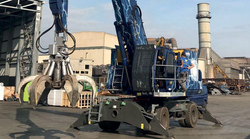 Il caricatore industriale full-electric di Dolomitech è equipaggiato con tre 3 Unità Motore-Pompa Elettro-Idrostatica (EPU) di Moog.