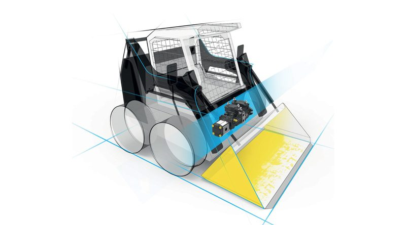 Minipala dotata di una soluzione composta da una pompa TPVT 1500 di HANSA-TMP.