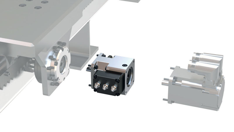 The NexSafe servo brake has failsafe mechanical connections with the servomotor and gearbox.