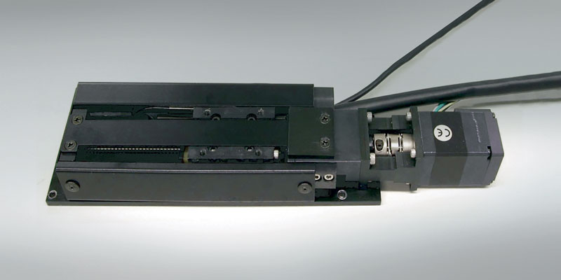 The NSK M-series nanopositioner features a compact single-axis stage.