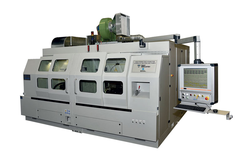 The test bench resulting from the synergy between Test Industry-Bimal and Bosch Rexroth.