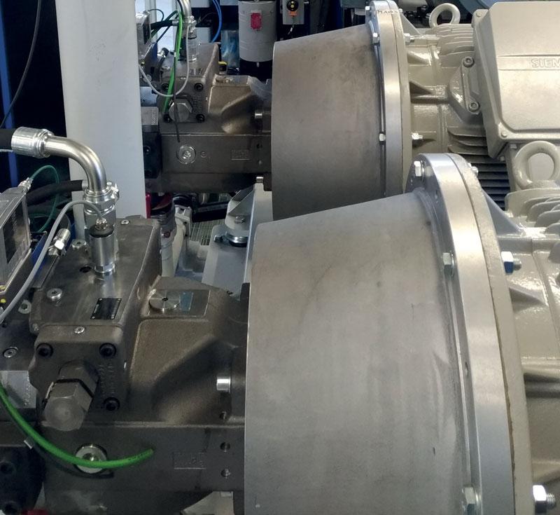 A4VBO pumps, side view.