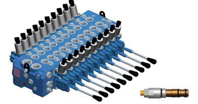 La valvola di sicurezza sezionale CLS di Eaton con funzione load sensing è ideale per le macchine con funzioni di rotazione e bloccaggio.