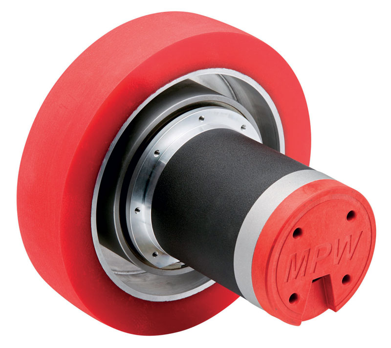The MPW86 wheel is ideal for Automated Guided Vehicles (AGV) and Autonomous Mobile Robots (AMR).