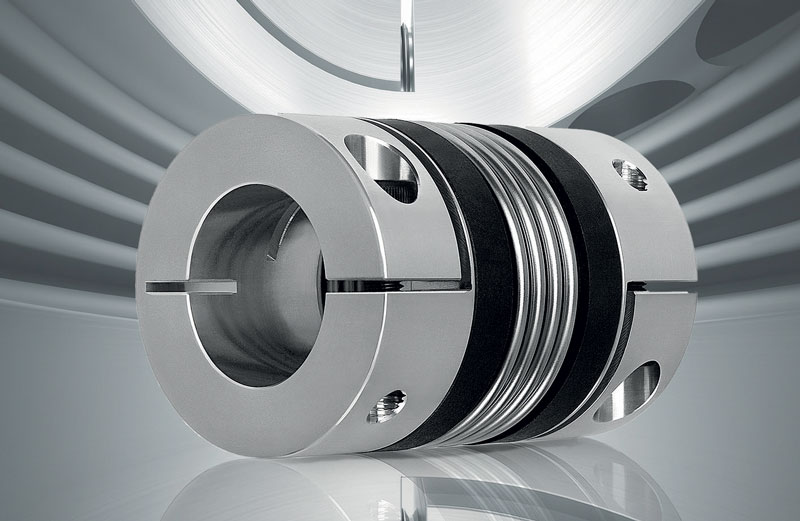 Figure 4. The BK series precision metal bellows coupling from R+W.