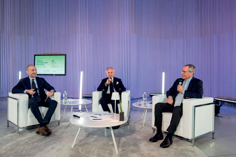 The Presidents of the three organizations ((Paolo Scudieri, ANFIA, Adolfo De Stefani Cosentino, FEDERAUTO, Michele Crisci, UNRAE) during the online joint press conference.