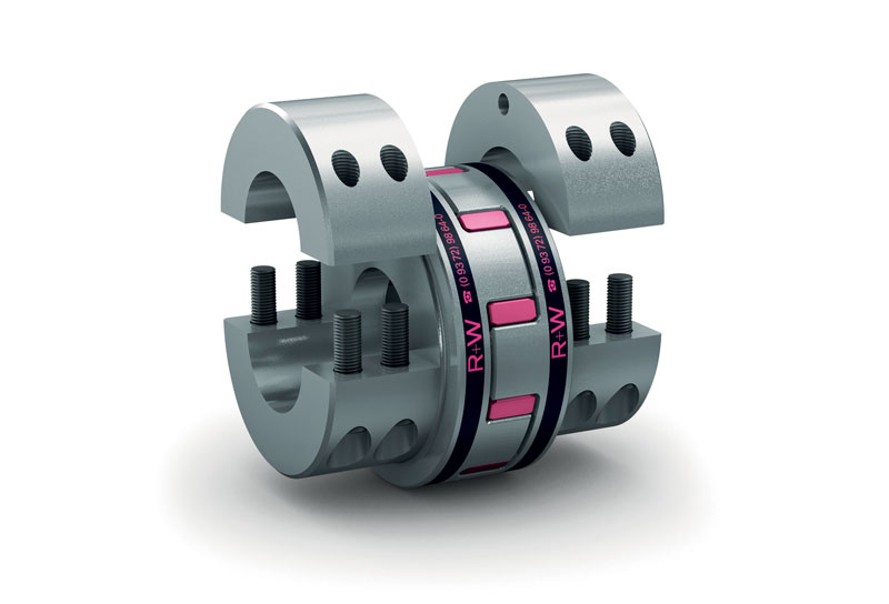 The EK elastomer coupling from R+W, also available in the AIC version with integrated sensors.