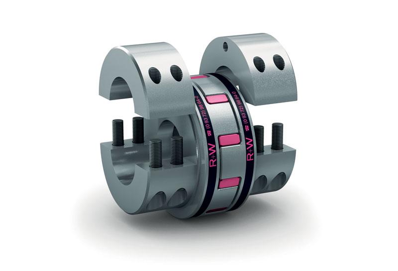 Il giunto a elastomero EK di R+W, disponibile anche in versione AIC con sensoristica integrata.