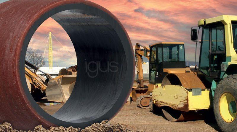 Esente da lubrificazione e resistente all'usura: il materiale per applicazioni pesanti iglidur TX2 permette di risparmiare sui costi e di prolungare la durata d'esercizio delle macchine edili e agricole.