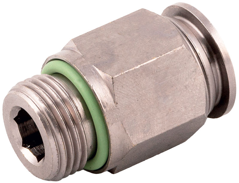 Thanks to a special surface coating, 70000 series fittings do not release any harmful substances into foodstuff.