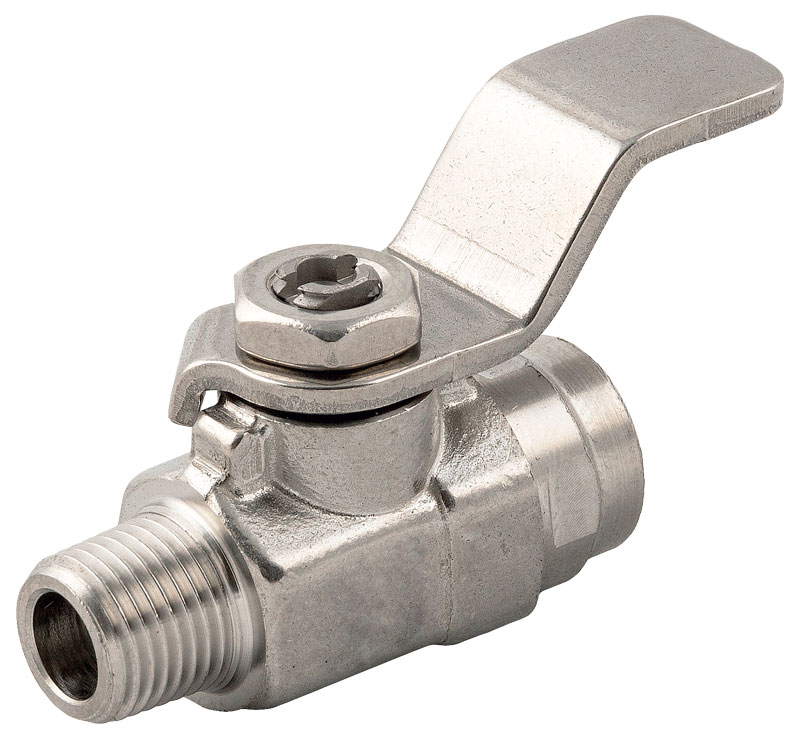 With the Ghinox series Aignep offers mini ball valves featuring compact dimensions, made entirely of AISI 316L.
