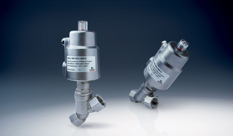 Figure 2. Series ASX angle seat valves for fluid control.