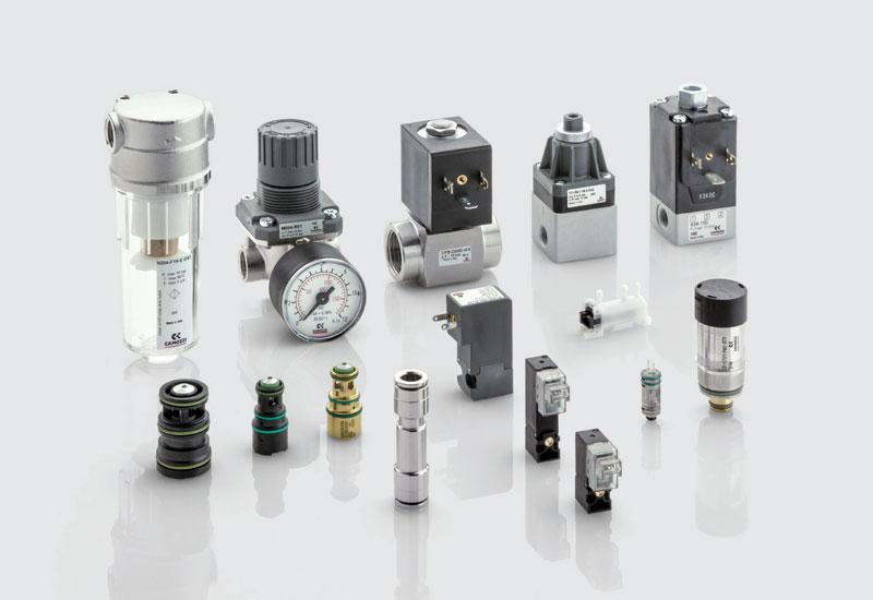 Figure 6. The range of fluid control components.