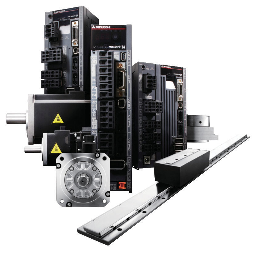Melservo MR-J4 family servomotors guarantee maximum positioning accuracy and speed thanks to the 22-bit resolution absolute encoder (over 4 million pulses/revolution) integrated as standard.