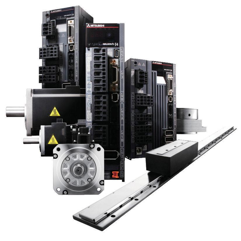 I servomotori della famiglia Melservo MR-J4 garantiscono massima precisione di posizionamento e velocità grazie all'encoder assoluto con risoluzione 22 bit (oltre 4 milioni di impulsi/giro) integrato di serie.