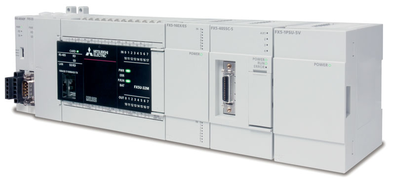 The iQ-F compact automation platform features two Simple Motion Modules, FX-40SSC-S with 4 axes or FX80SSC-S with 8 axes.