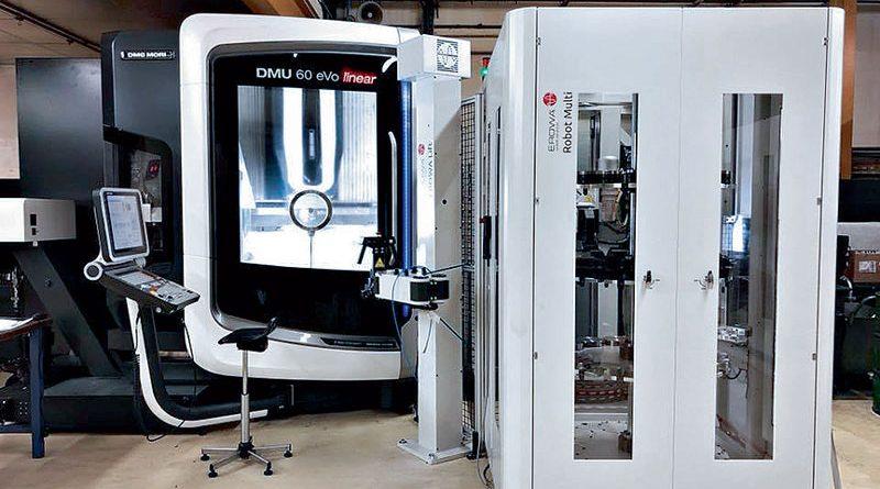 """La combinazione di più soluzioni Erowa destinate ad automatizzare i processi produttivi è in grado di trasformare i nostri tre centri di lavoro DMU di DMG MORI in celle di produzione vere e proprie"""", afferma Philippe Rossignolo, CEO di Cattin Usinage."""
