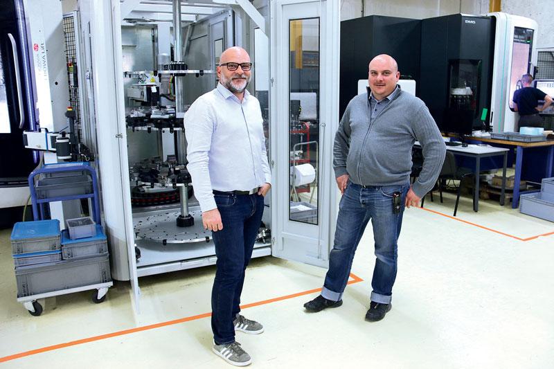 Philippe e Stéphane Rossignolo, titolari di Cattin Usinage.
