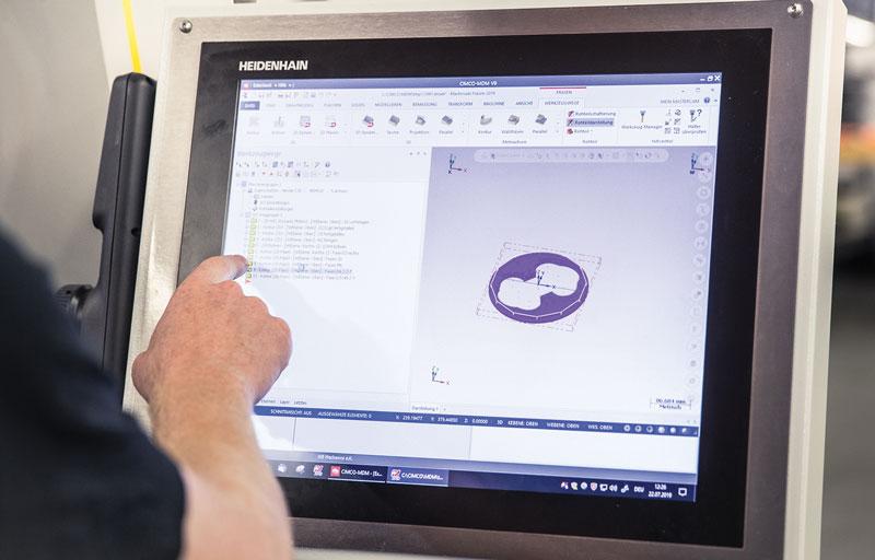 Con Remote Desktop Manager il programma CAM è disponibile sul controllo numerico.