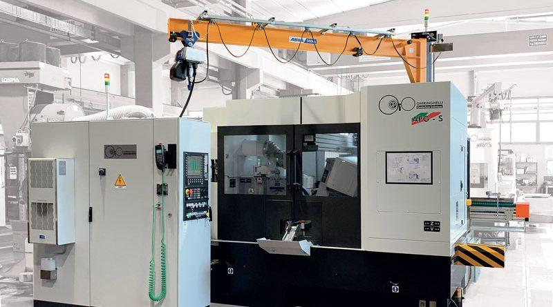La nuova APG assicura un processo ottimale di rettifica ad alta velocità, fino a 120 m/s.